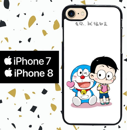 Custodia Cover iphone 7 8 doraemon W4843 Case