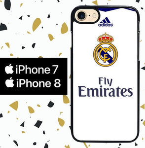 Custodia Cover iphone 7 8 Real Madrid Jersey W4940 Case