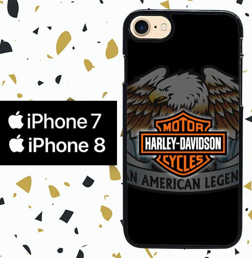 Custodia Cover iphone 7 8 Harley Davidson An American Legend W4944 Case