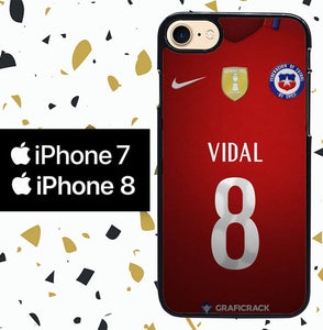 Custodia Cover iphone 7 8 Chile Football Federation JERSEY W5012 Case