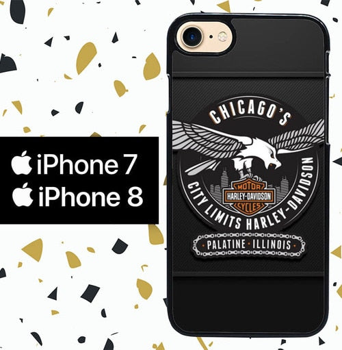 Custodia Cover iphone 7 8 harley davidson W5074 Case