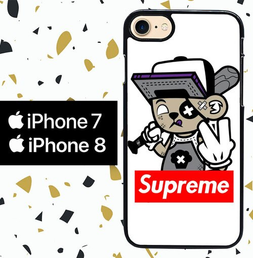Custodia Cover iphone 7 8 supreme graffiti tee W5097 Case