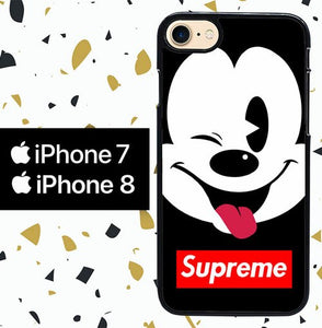 Custodia Cover iphone 7 8 mickey mouse SUPREME W5245 Case