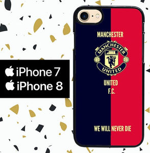 Custodia Cover iphone 7 8 manchester united football W5297 Case