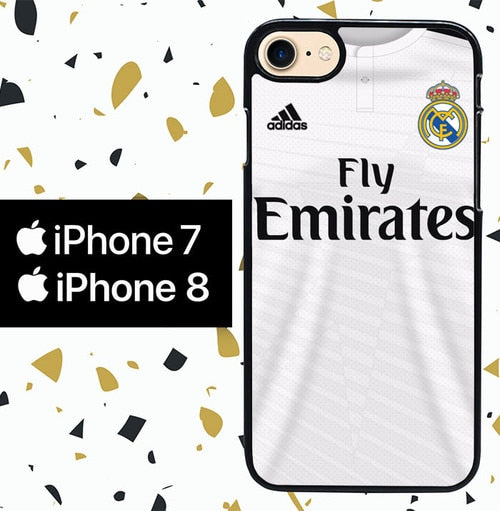 Custodia Cover iphone 7 8 madrid road jersey W5299 Case