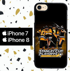 Custodia Cover iphone 7 8 pittsburgh penguins W5373 Case