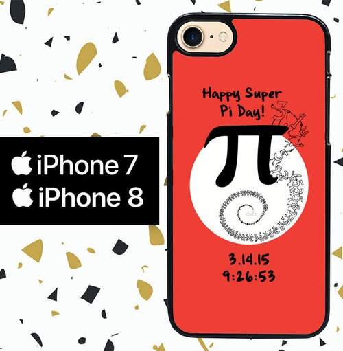 Custodia Cover iphone 7 8 pi day of the century W5401 Case