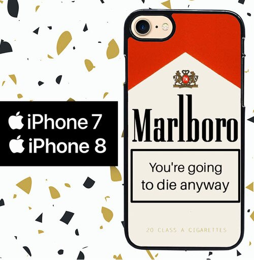 Custodia Cover iphone 7 8 MARLBORO W7014 Case