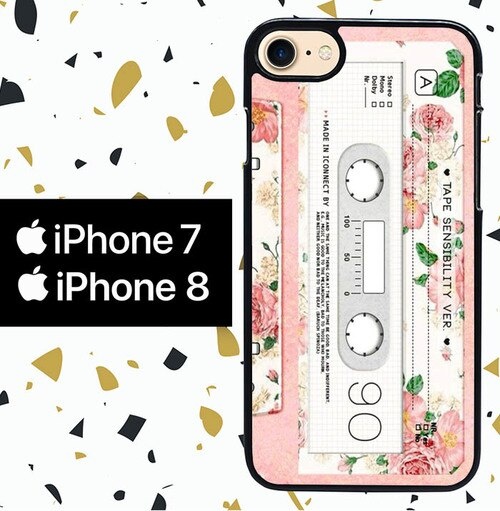 Custodia Cover iphone 7 8 TAPE CASETTE W7025 Case