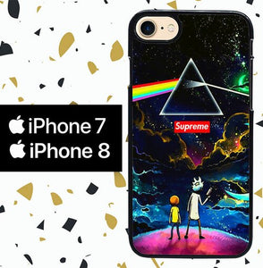 Custodia Cover iphone 7 8 rick and morty W8513 Case