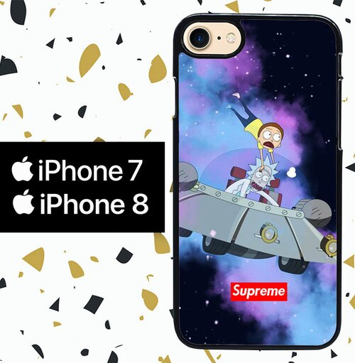 Custodia Cover iphone 7 8 rick and morty W8545 Case