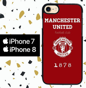 Custodia Cover iphone 7 8 minchester united W8586 Case