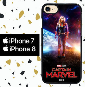 Custodia Cover iphone 7 8 CAPTAIN MARVEL W8587 Case