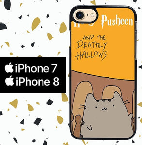 Custodia Cover iphone 7 8 pusheen cat W8967 Case