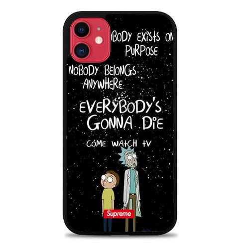 Custodia Cover iphone 11 pro max rick and morty W9371 Case