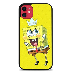 Custodia Cover iphone 11 pro max spongebob W9376 Case