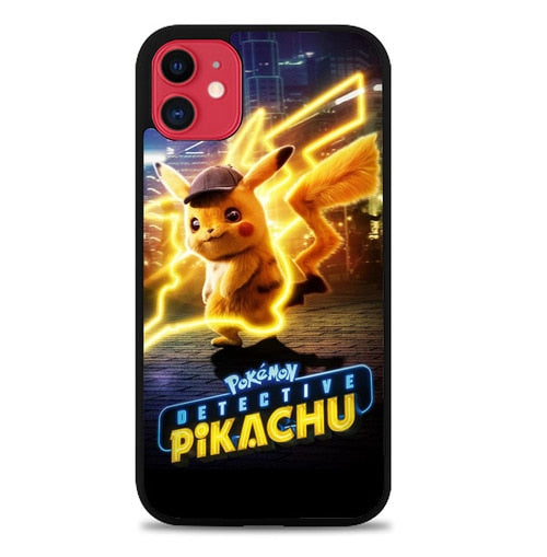 Custodia Cover iphone 11 pro max pokemon detective pikachu W9583 Case