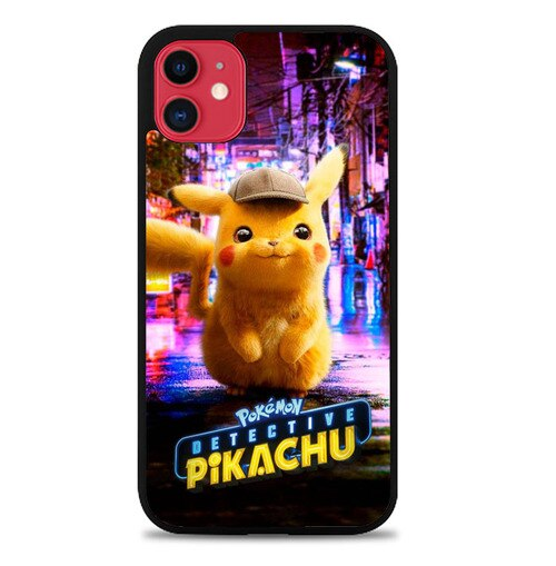 Custodia Cover iphone 11 pro max pokemon detective pikachu W9587 Case
