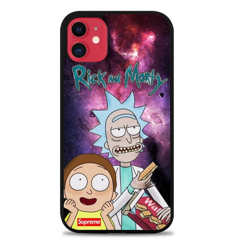 Custodia Cover iphone 11 pro max rick and morty W9738 Case