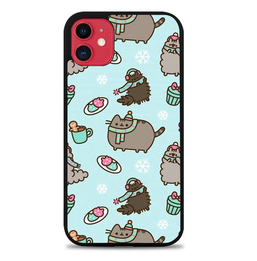Custodia Cover iphone 11 pro max pusheen cat W9795 Case