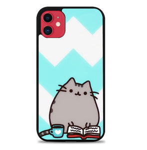 Custodia Cover iphone 11 pro max pusheen cat W9796 Case
