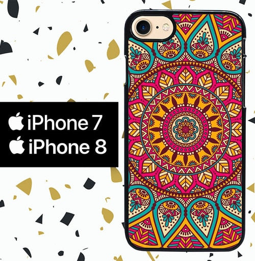 Custodia Cover iphone 7 8 INDIAN FLOWER WY0084 Case