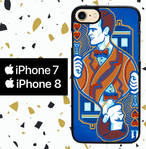 Custodia Cover iphone 7 8 doctor who wallpaper Y2179 Case