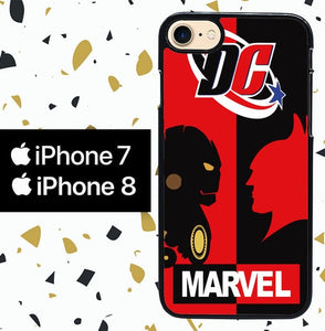 Custodia Cover iphone 7 8 marvel and dc Y2239 Case