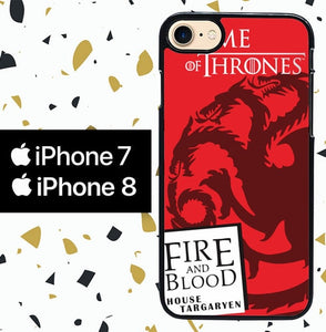 Custodia Cover iphone 7 8 Fire And Blood Targaryen Game Of Thrones Y2580 Case