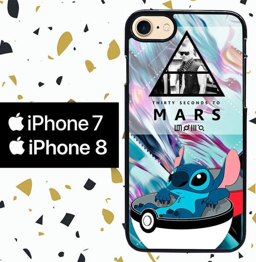 Custodia Cover iphone 7 8 POKEMON ball stitch 30 seconds to mars Y2897 Case