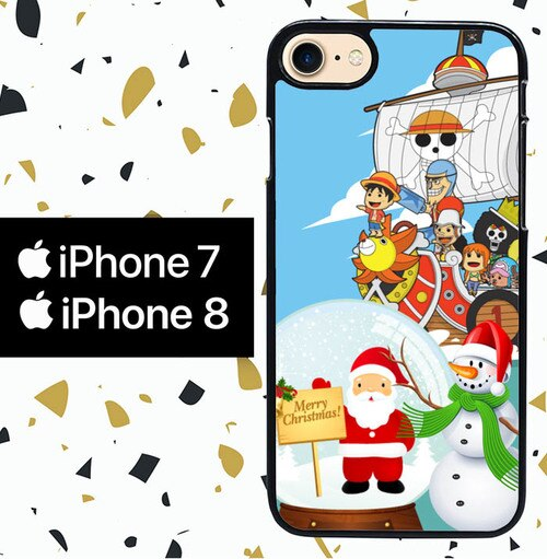 Custodia Cover iphone 7 8 ONE PIECE christmas Y2916 Case