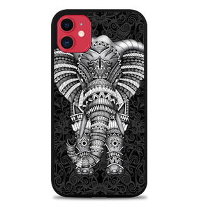 Custodia Cover iphone 11 pro max elephant aztec pattern Comforters Q0308 Case