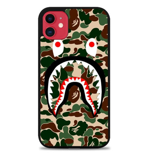 Custodia Cover iphone 11 pro max Supreme Shark Green Q0325 Case