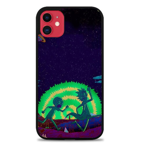 Custodia Cover iphone 11 pro max Rick And Morty Space Room J1030 Case