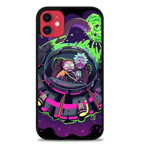 Custodia Cover iphone 11 pro max Rick And Morty The UFO J1033 Case