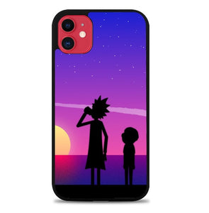 Custodia Cover iphone 11 pro max Rick And Morty Sillouete J1034 Case