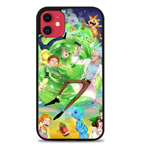 Custodia Cover iphone 11 pro max Rick And Morty Poster Art J1045 Case