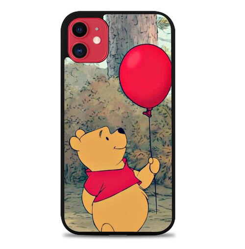 Custodia Cover iphone 11 pro max Pooh And The Red Baloon J1065 Case