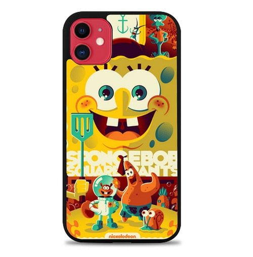 Custodia Cover iphone 11 pro max Spongebobs Squarepants J1137 Case