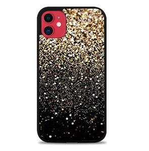 Custodia Cover iphone 11 pro max Gold Glitter J1139 Case