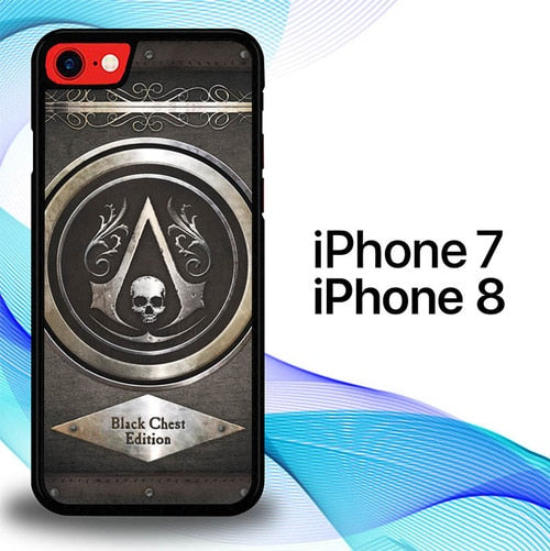 Custodia Cover iphone 7 8 Assasins Creed Iv Black Flag E0224 Case