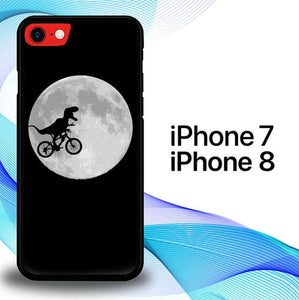 Custodia Cover iphone 7 8 Dinosaurus Bike To The Moon E0442 Case