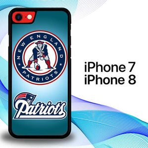 Custodia Cover iphone 7 8 New England Patriots Logo E0788 Case