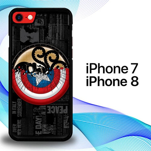 Custodia Cover iphone 7 8 Captain America Comic Logo E0811 Case