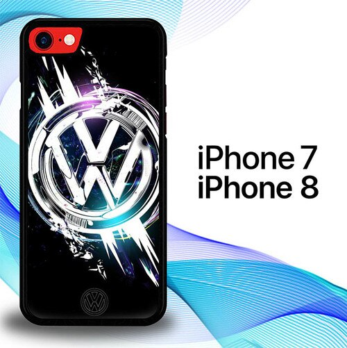 Custodia Cover iphone 7 8 VW Blink Auto Logo E1000 Case