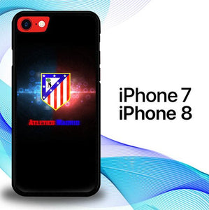 Custodia Cover iphone 7 8 Atletico Madrid Soccer Flare Logo E1086 Case