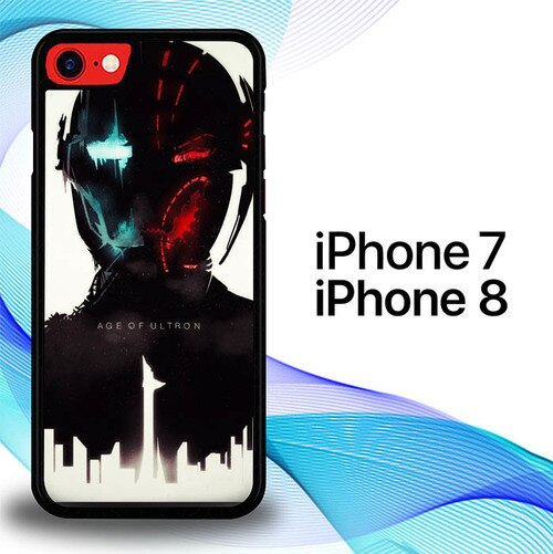 Custodia Cover iphone 7 8 Avengers Age Of Ultron poster Movies E1094 Case