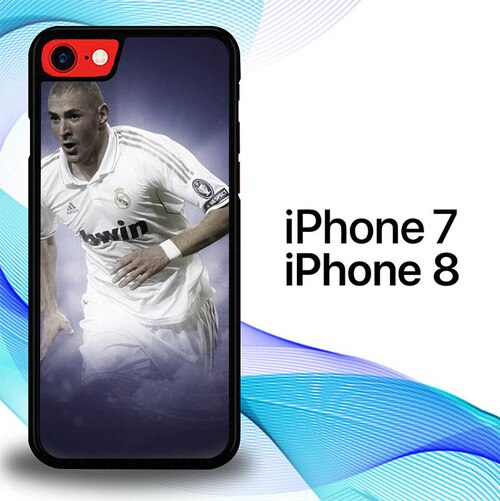 Custodia Cover iphone 7 8 Benzema Motion Real Madrid Soccer E1116 Case