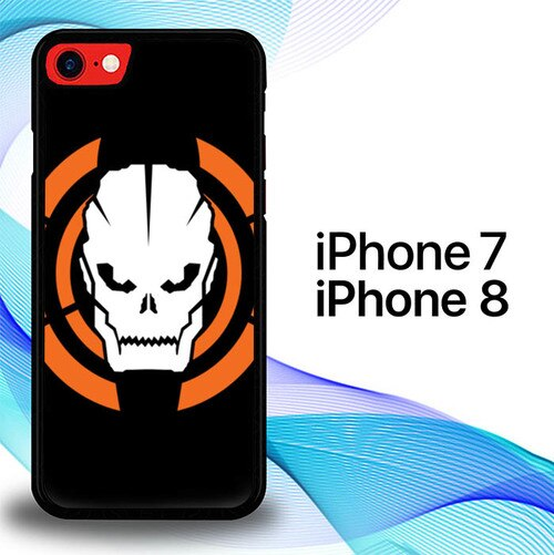 Custodia Cover iphone 7 8 Call Of Duty Black Ops Games Skull Logo E1134 Case