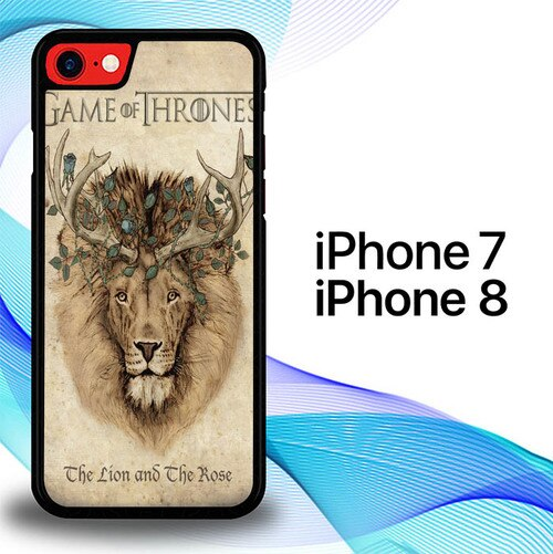 Custodia Cover iphone 7 8 Game Of Thrones Movies Lion Flowers E1173 Case
